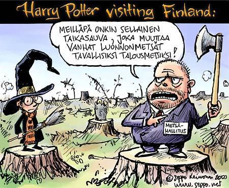 Harri Potter ja suomalainen taigametsä