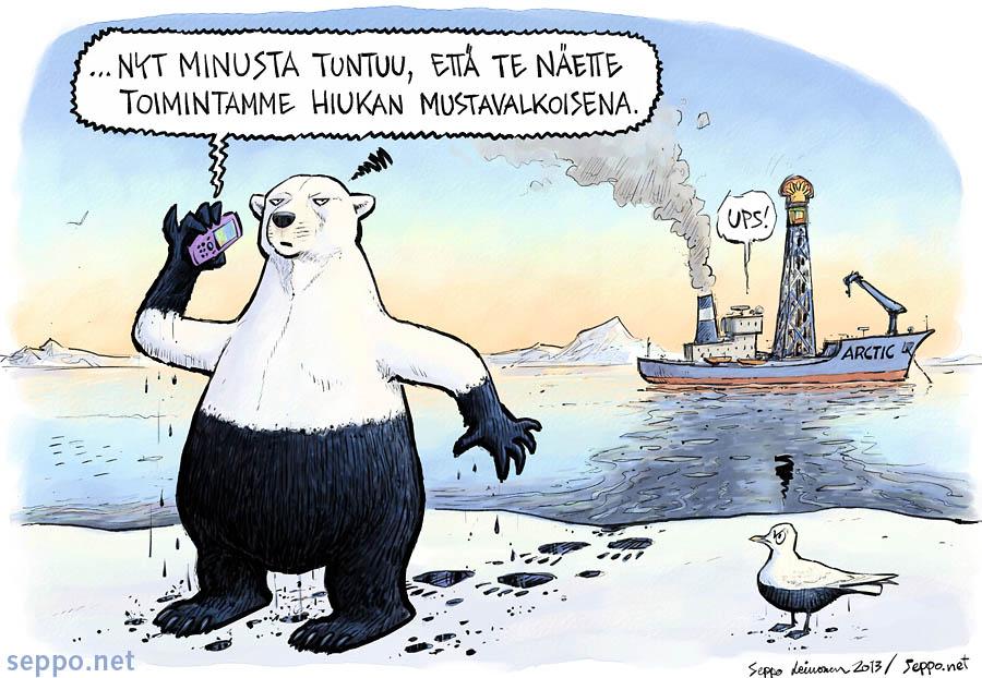Jääkarhu ja arktinen öljynporaus