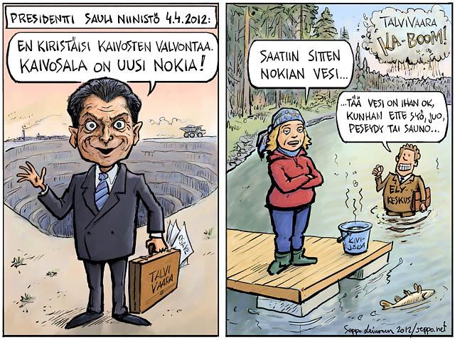 Sauli Niinistö – kaivosala on uusi Nokia